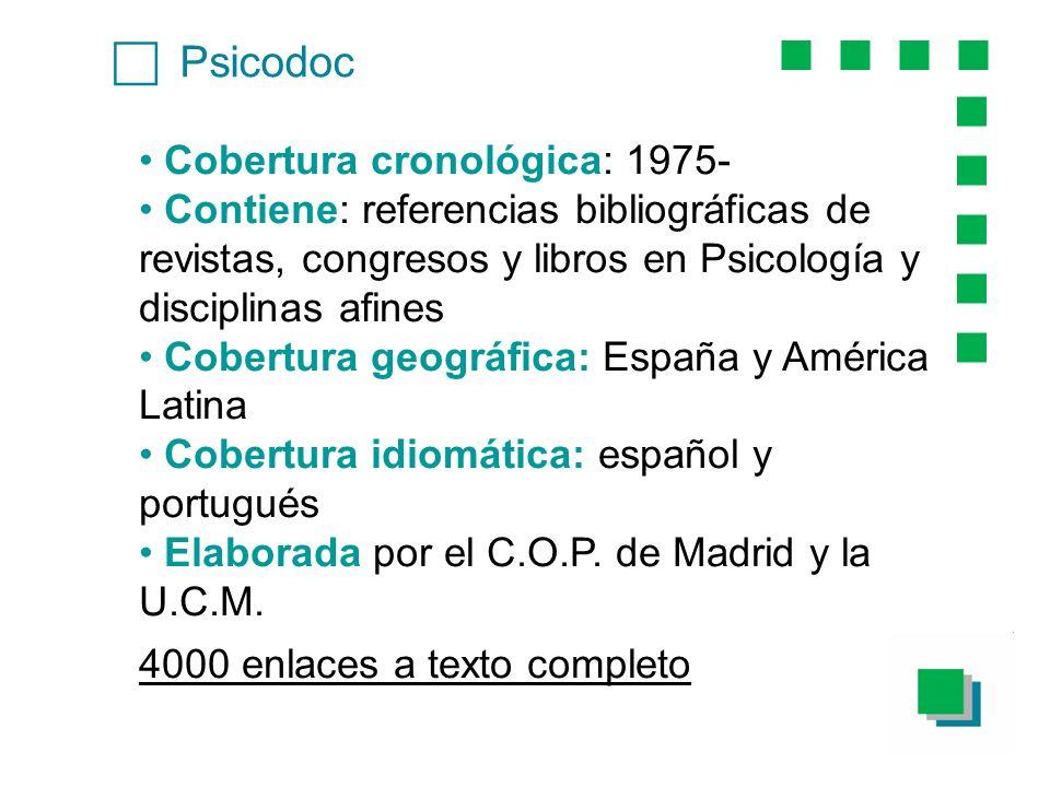 c Psicodoc Cobertura cronológica: 1975-