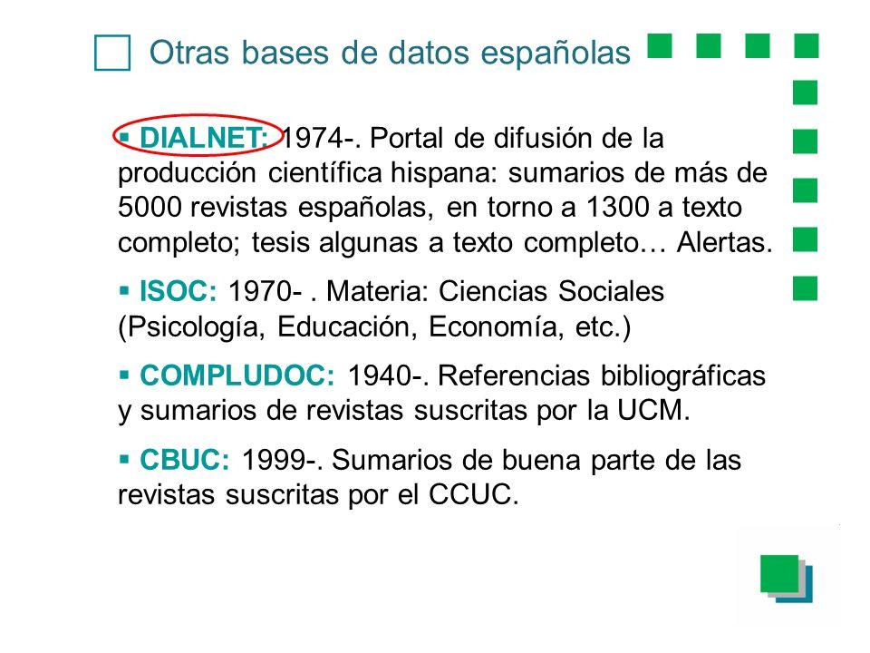 c Otras bases de datos españolas