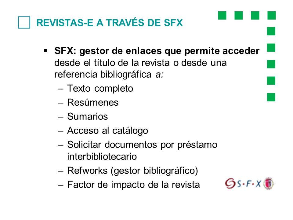 c REVISTAS-E A TRAVÉS DE SFX