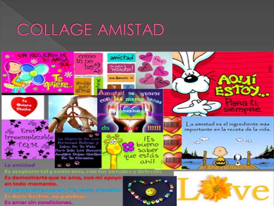 COLLAGE AMISTAD