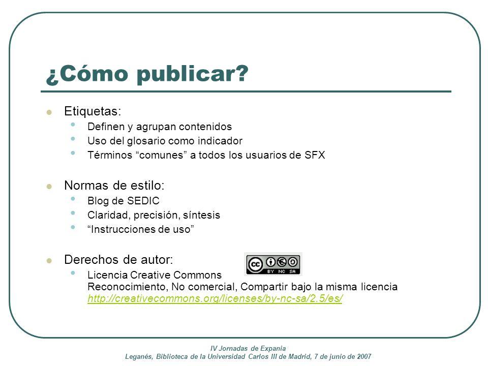 ¿Cómo publicar Etiquetas: Normas de estilo: Derechos de autor: