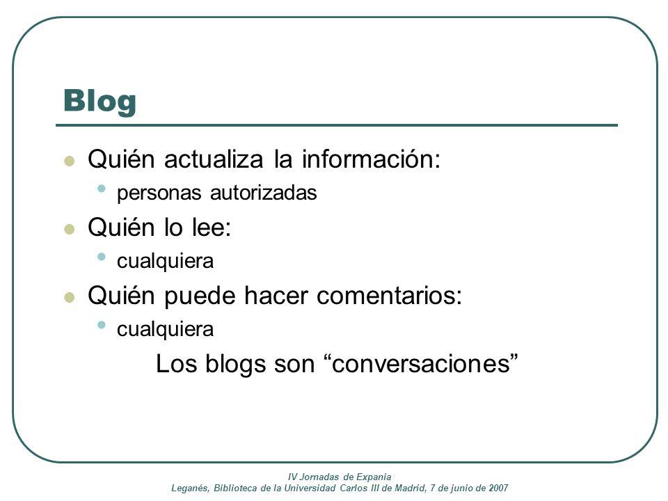 Los blogs son conversaciones