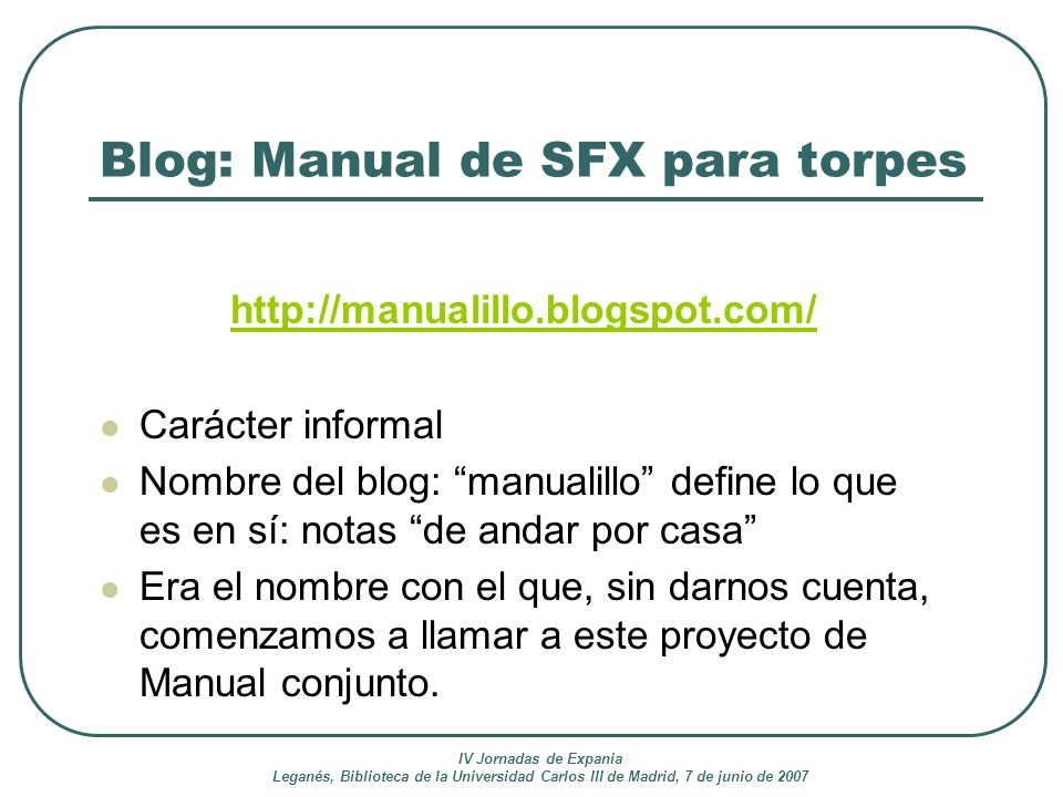Blog: Manual de SFX para torpes