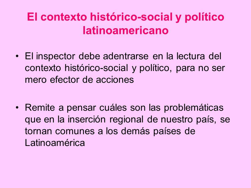 El contexto histórico-social y político latinoamericano