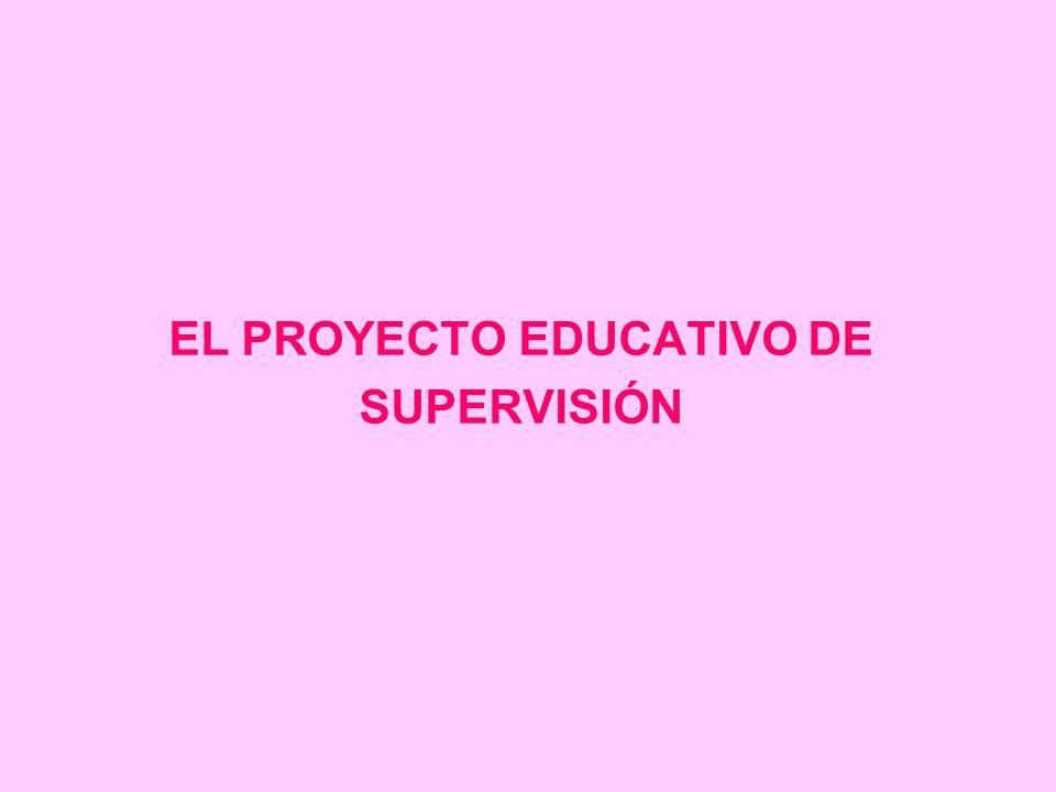 EL PROYECTO EDUCATIVO DE