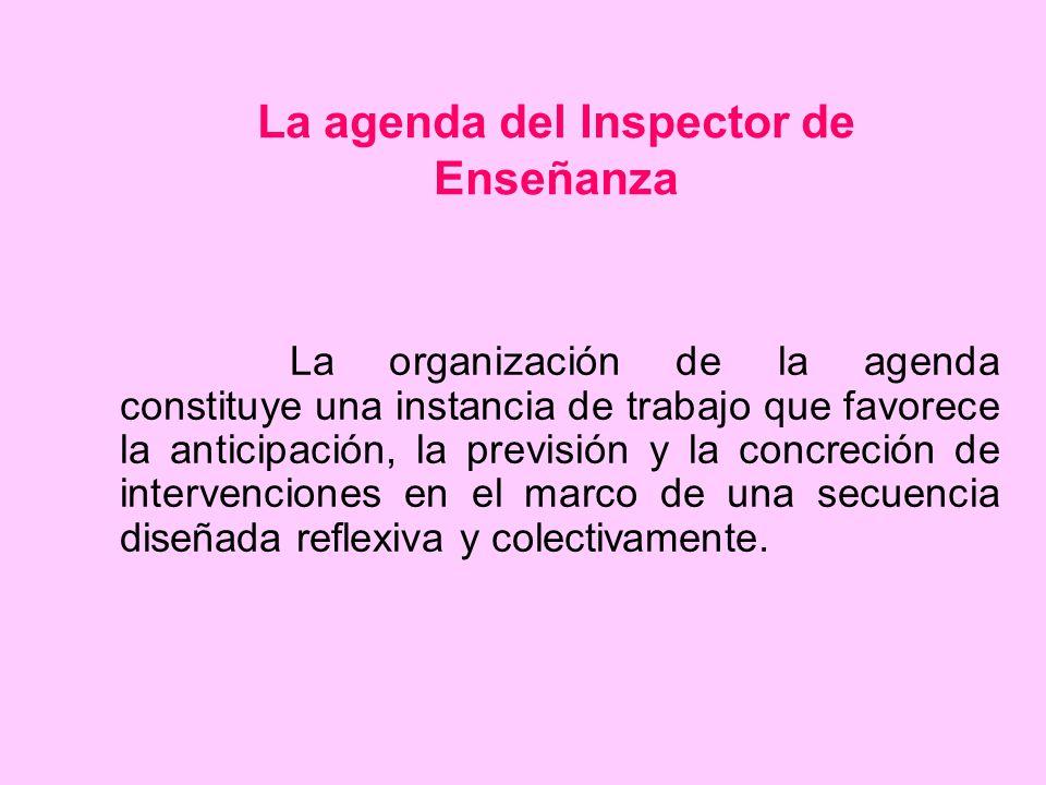 La agenda del Inspector de Enseñanza
