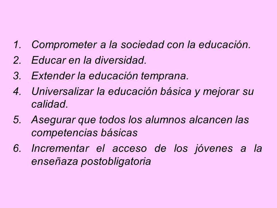 Comprometer a la sociedad con la educación.