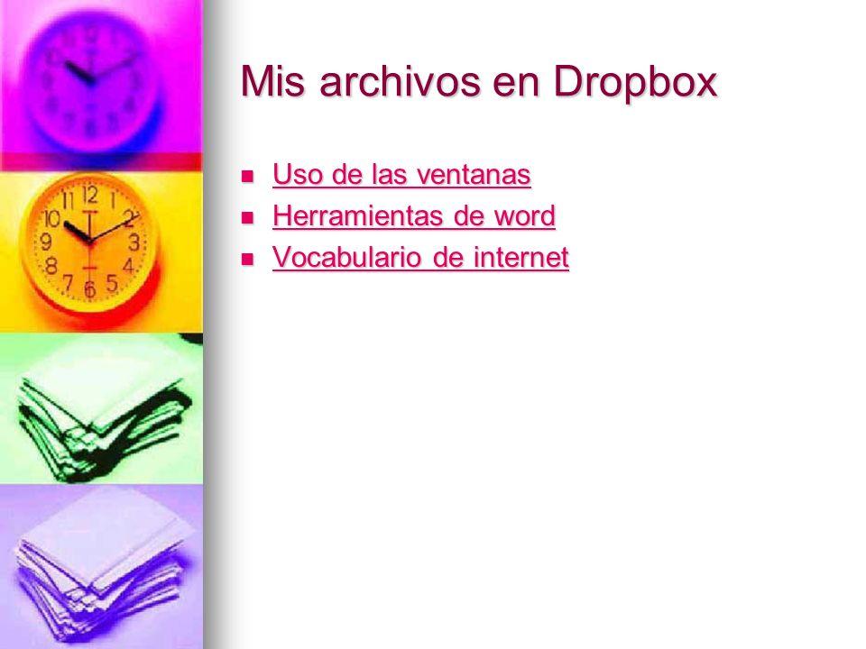Mis archivos en Dropbox