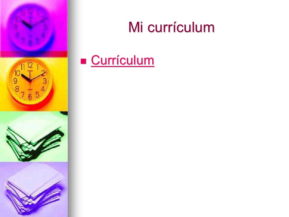 Mi currículum Currículum