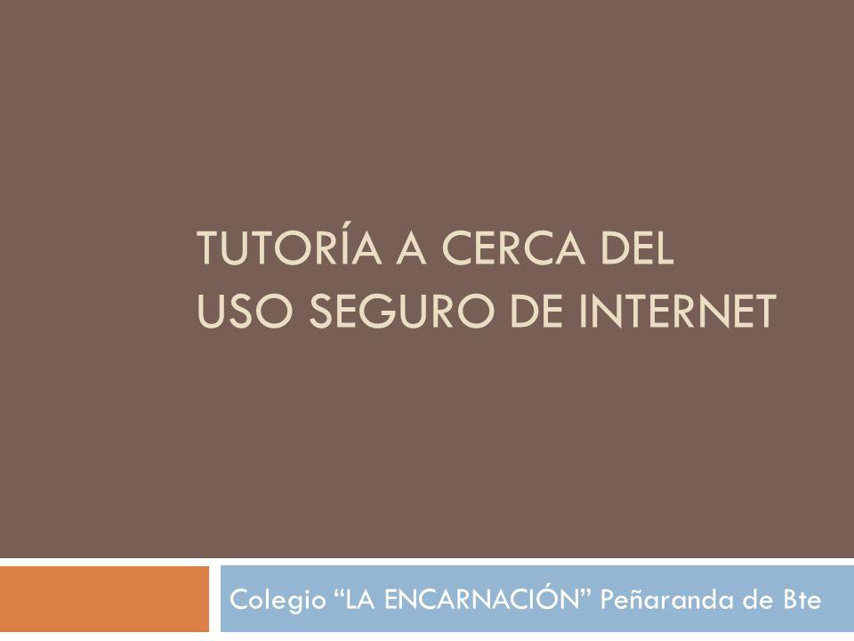 Tutoría a cerca del uso seguro de internet
