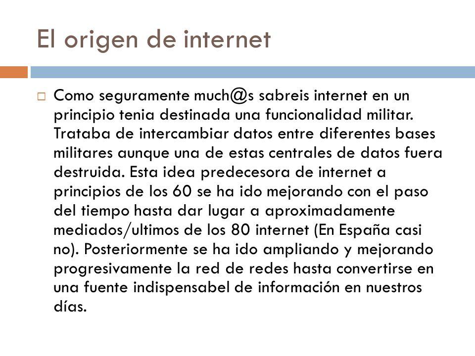 El origen de internet