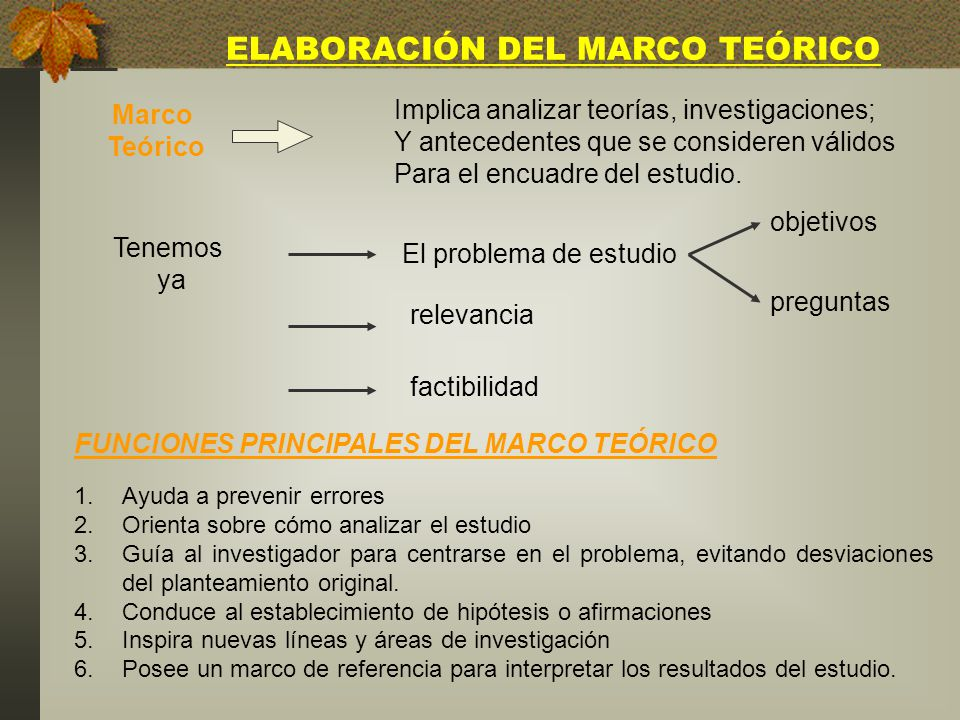 ELABORACIÓN DEL MARCO TEÓRICO - ppt video online descargar