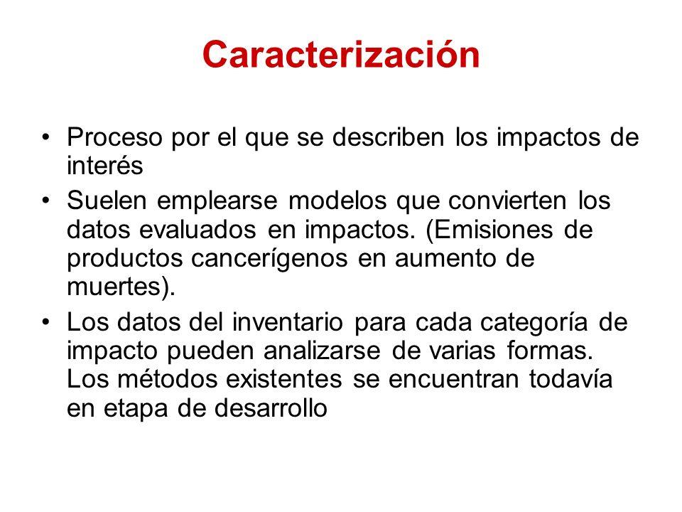 Caracterización Proceso por el que se describen los impactos de interés.