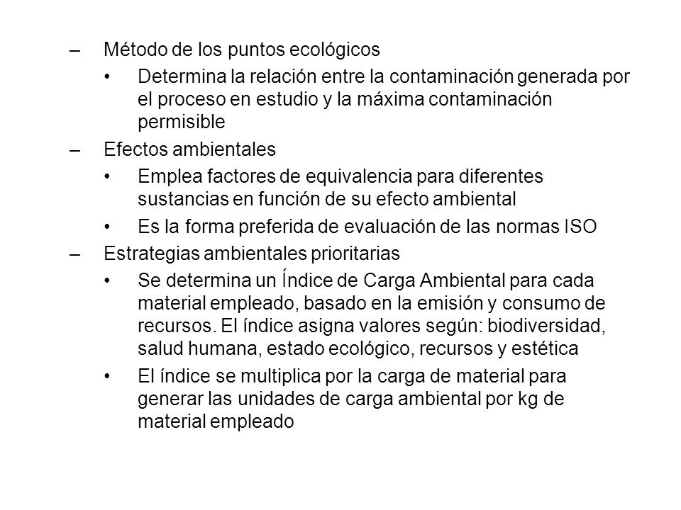 Método de los puntos ecológicos
