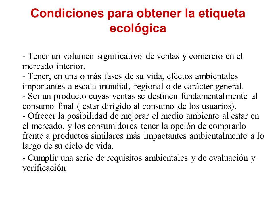 Condiciones para obtener la etiqueta ecológica