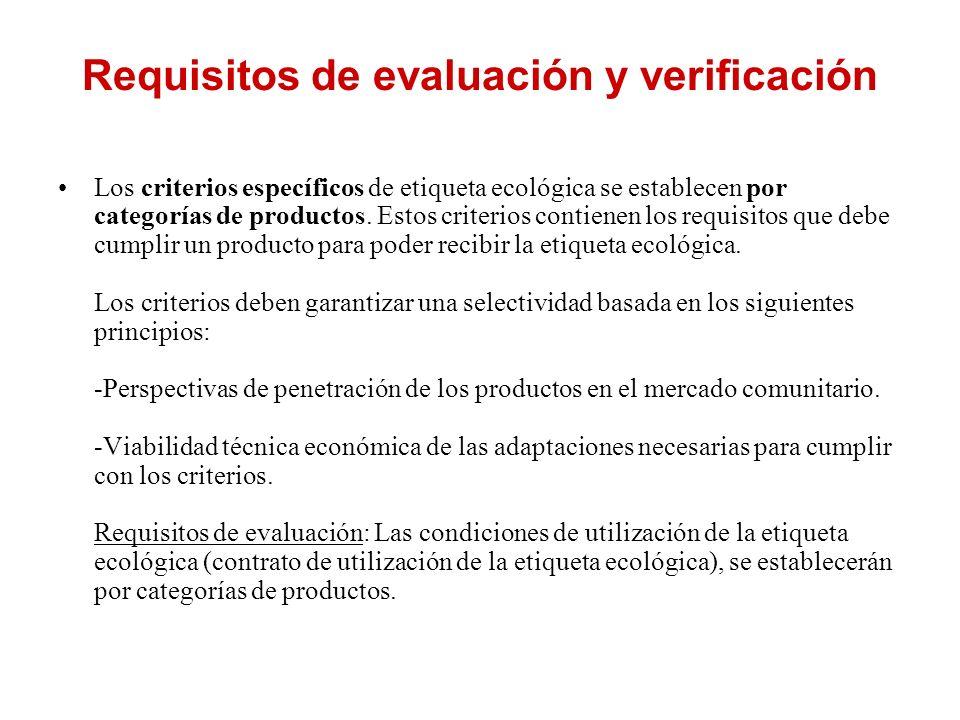 Requisitos de evaluación y verificación