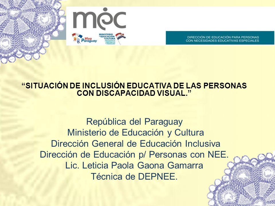 República del Paraguay Ministerio de Educación y Cultura
