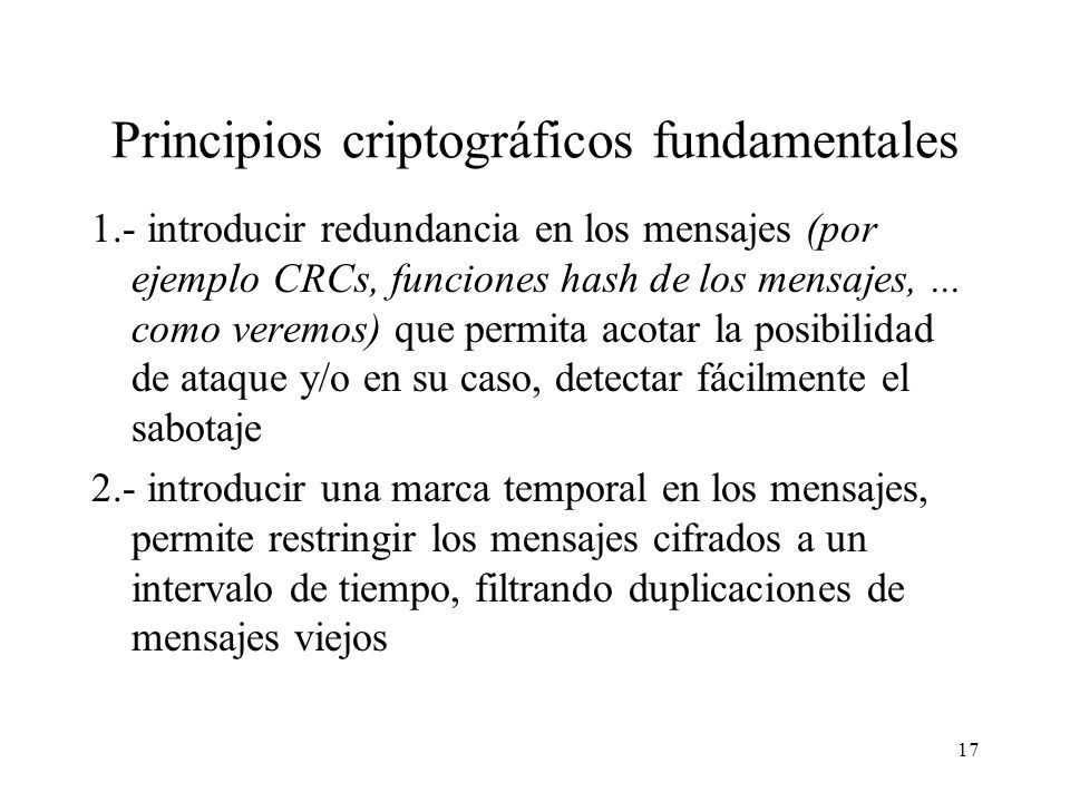 Principios criptográficos fundamentales