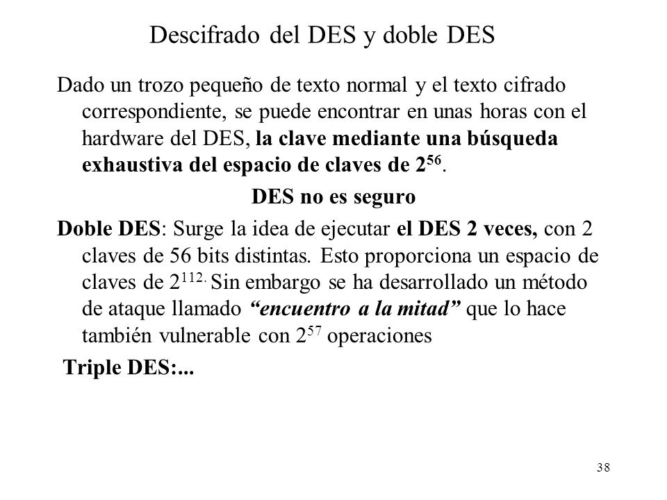 Descifrado del DES y doble DES