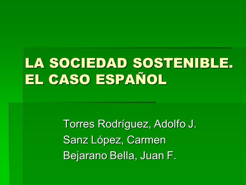LA SOCIEDAD SOSTENIBLE. EL CASO ESPAÑOL