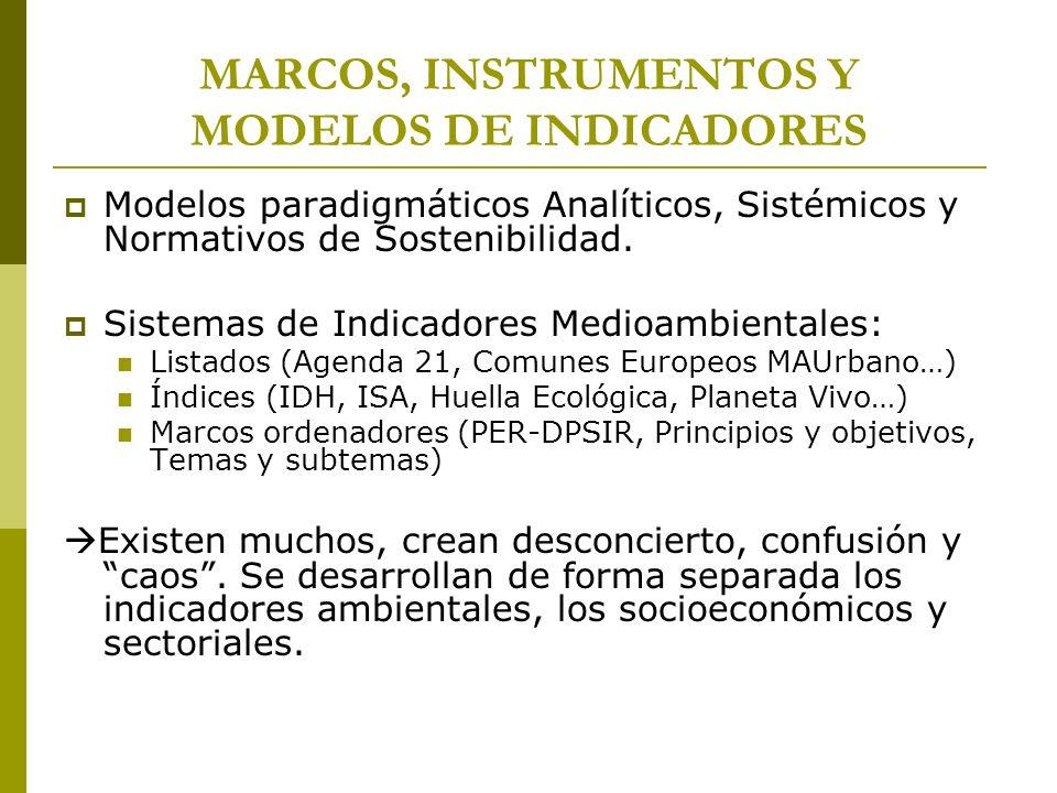 MARCOS, INSTRUMENTOS Y MODELOS DE INDICADORES