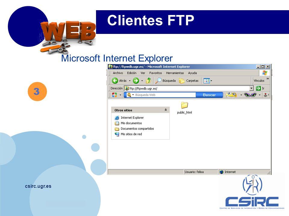 Clientes FTP Microsoft Internet Explorer 3 csirc.ugr.es