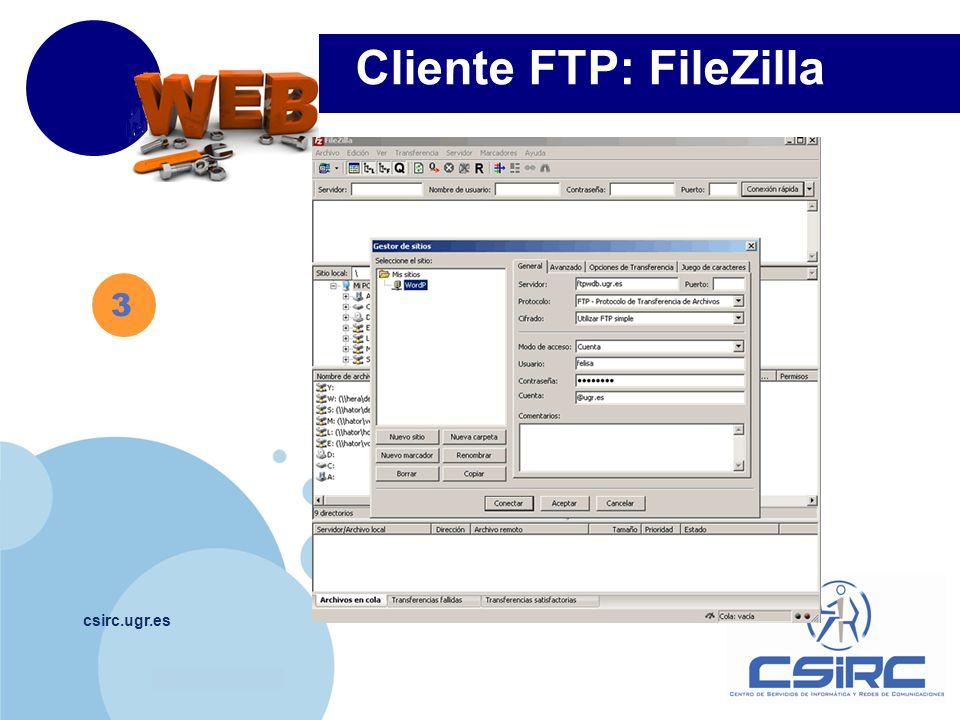 Cliente FTP: FileZilla