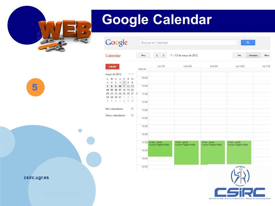 Google Calendar 5 csirc.ugr.es