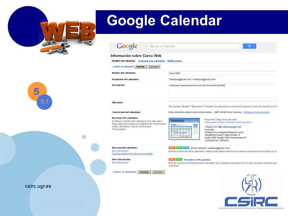 Google Calendar 5 5.1 csirc.ugr.es