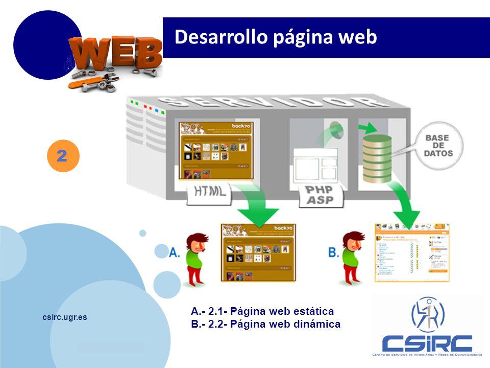 Desarrollo página web 2 A.- 2.1- Página web estática