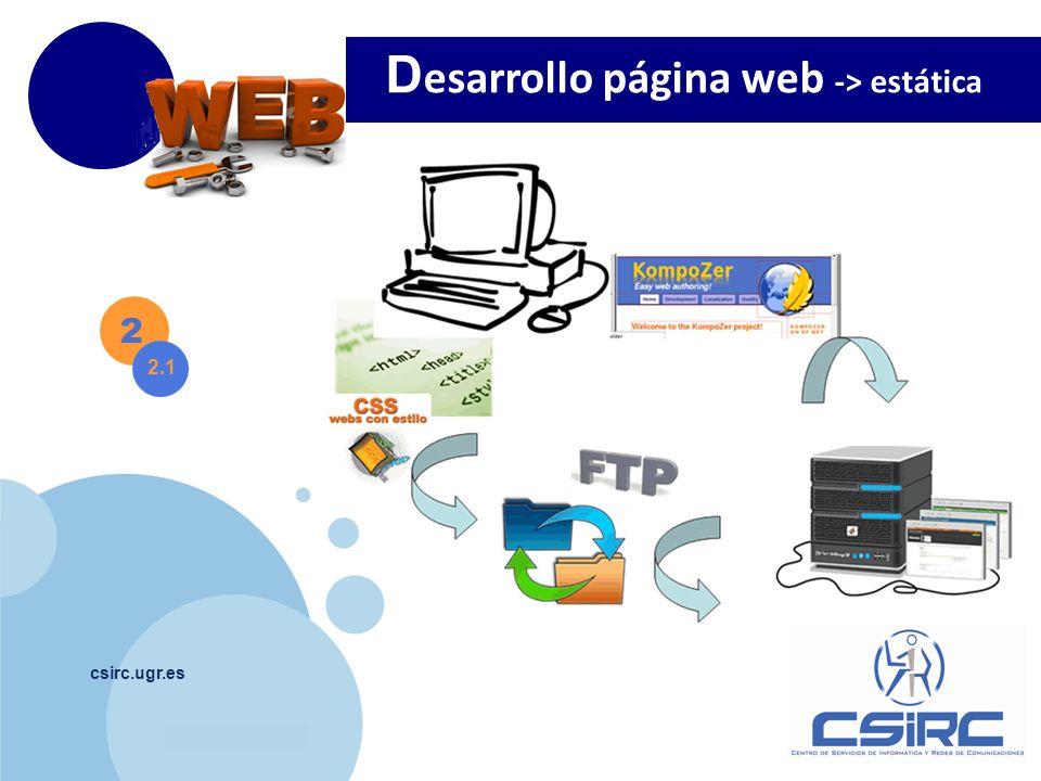 Desarrollo página web -> estática