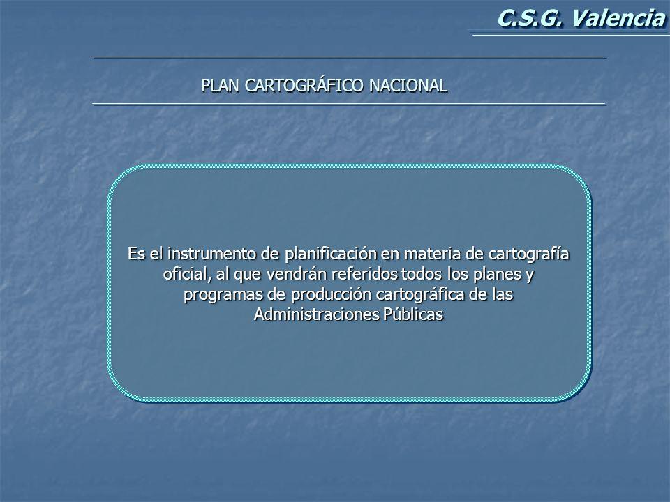 PLAN CARTOGRÁFICO NACIONAL