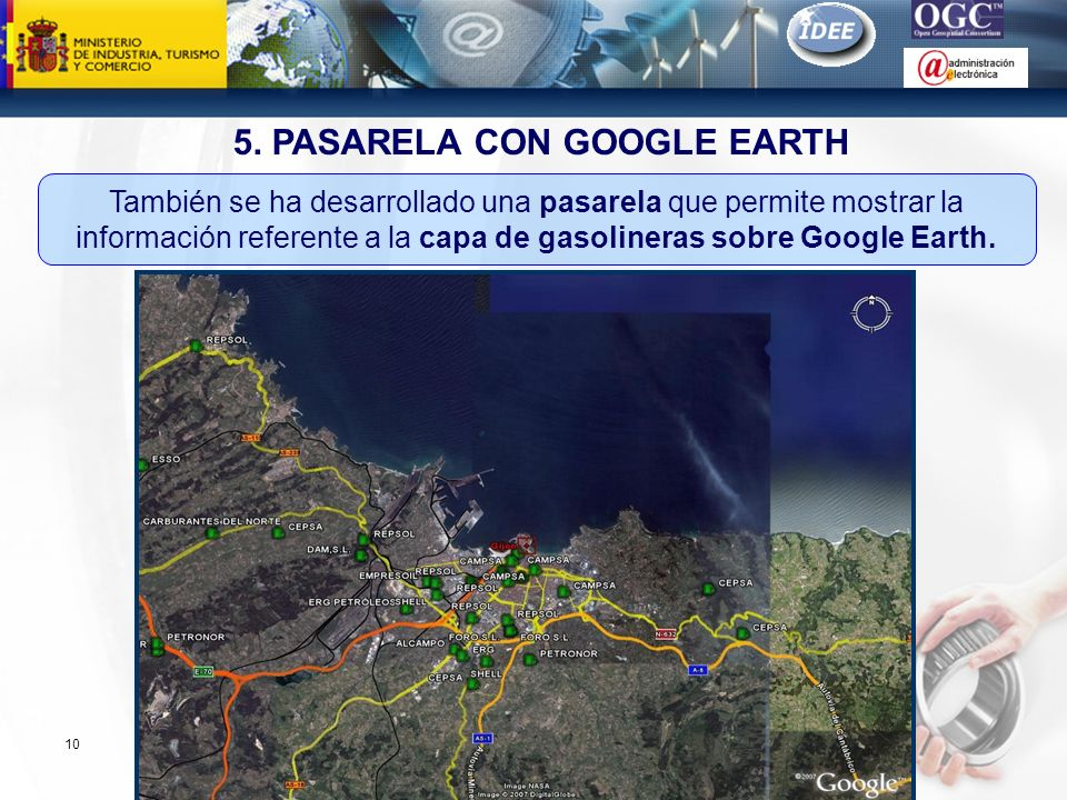 5. PASARELA CON GOOGLE EARTH