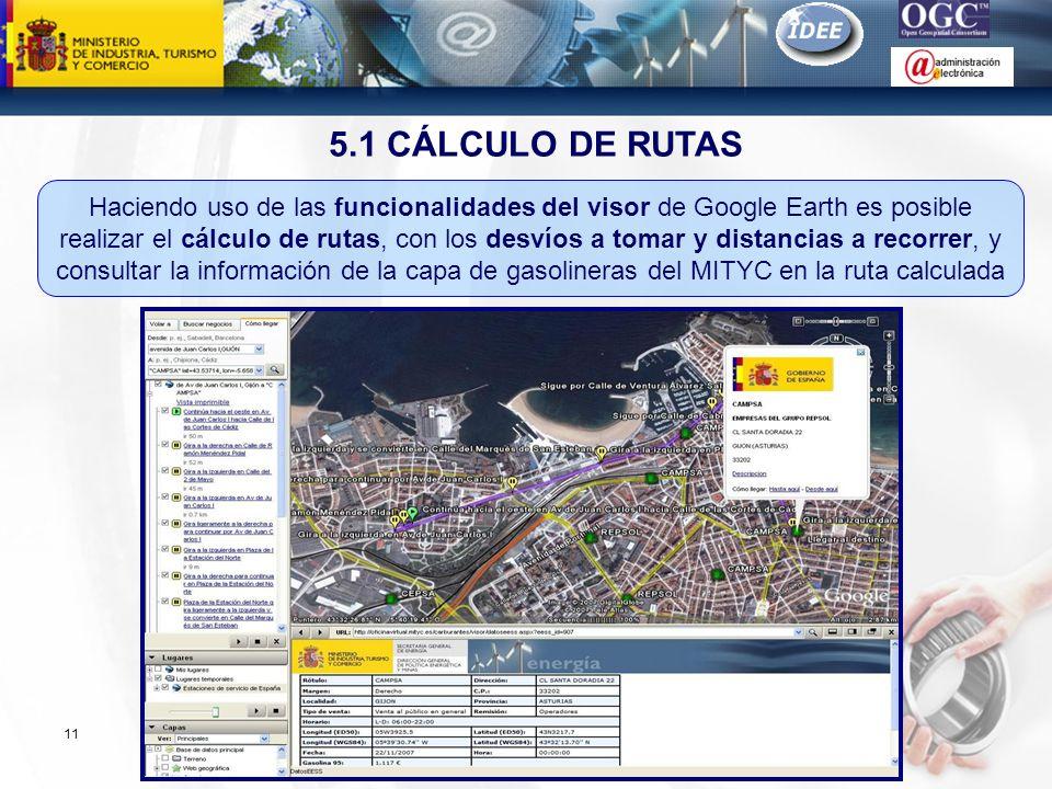 5.1 CÁLCULO DE RUTAS