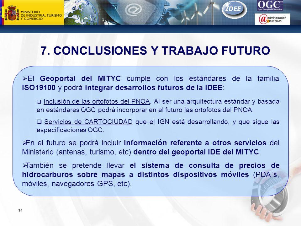 7. CONCLUSIONES Y TRABAJO FUTURO