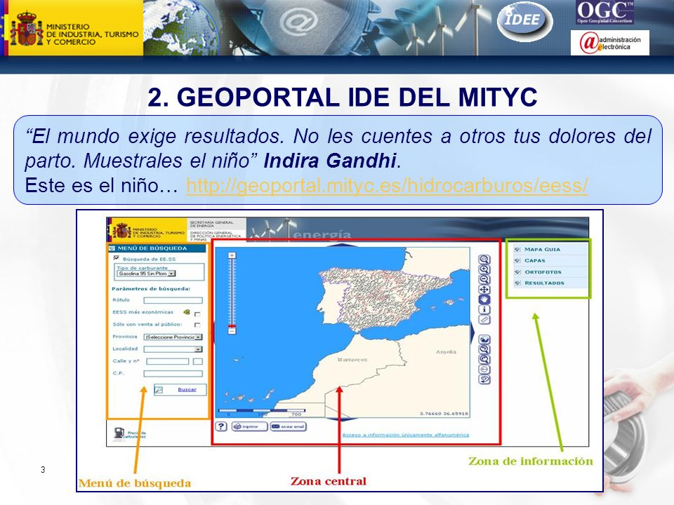 2. GEOPORTAL IDE DEL MITYC