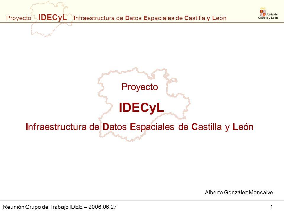 IDECyL Proyecto Infraestructura de Datos Espaciales de Castilla y León