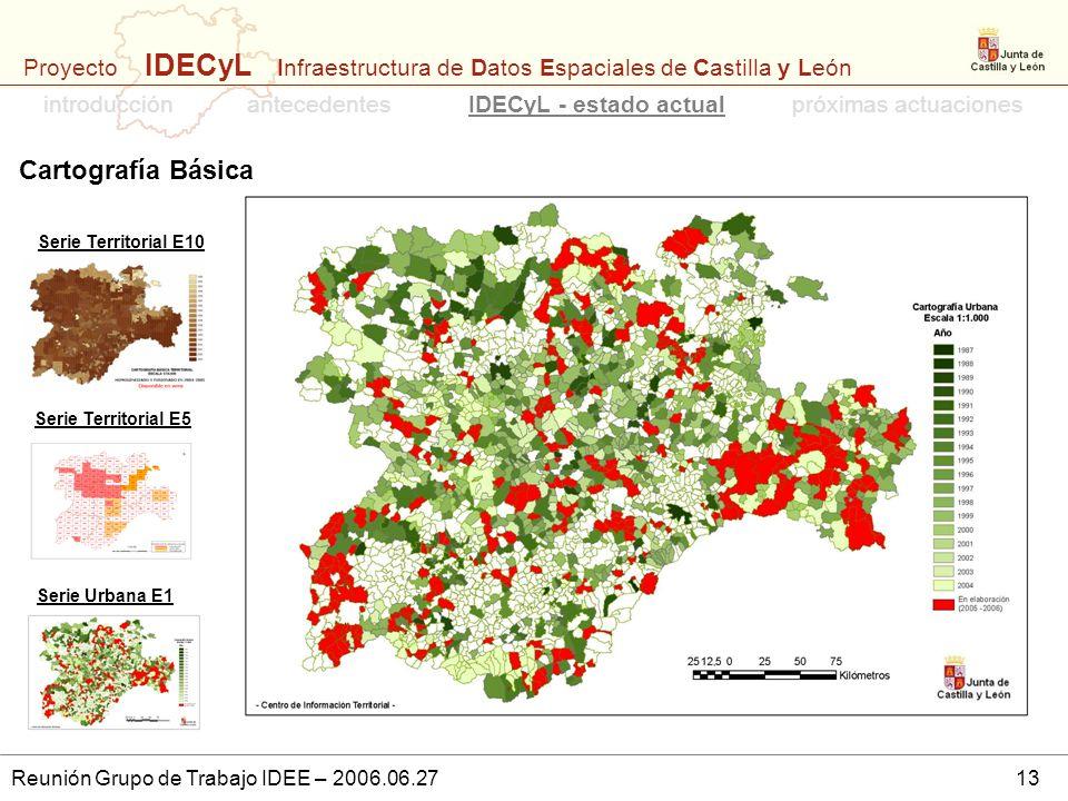Cartografía Básica introducción antecedentes IDECyL - estado actual