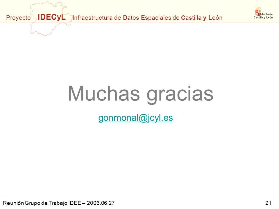 Muchas gracias gonmonal@jcyl.es