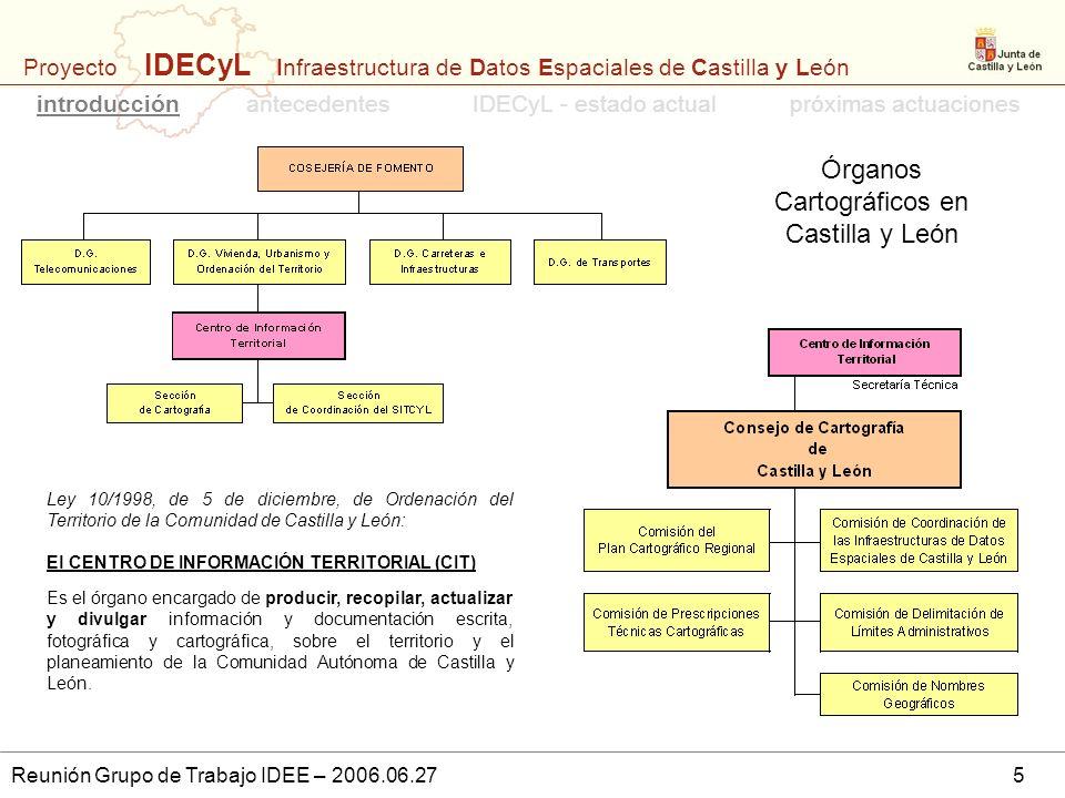 Órganos Cartográficos en Castilla y León