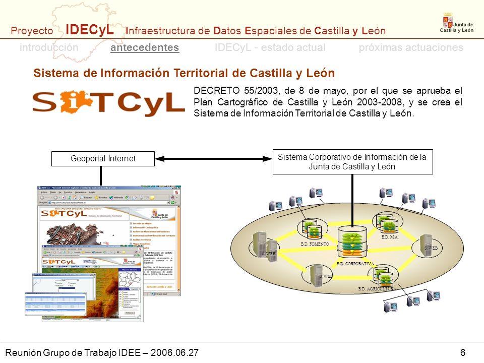Sistema Corporativo de Información de la Junta de Castilla y León