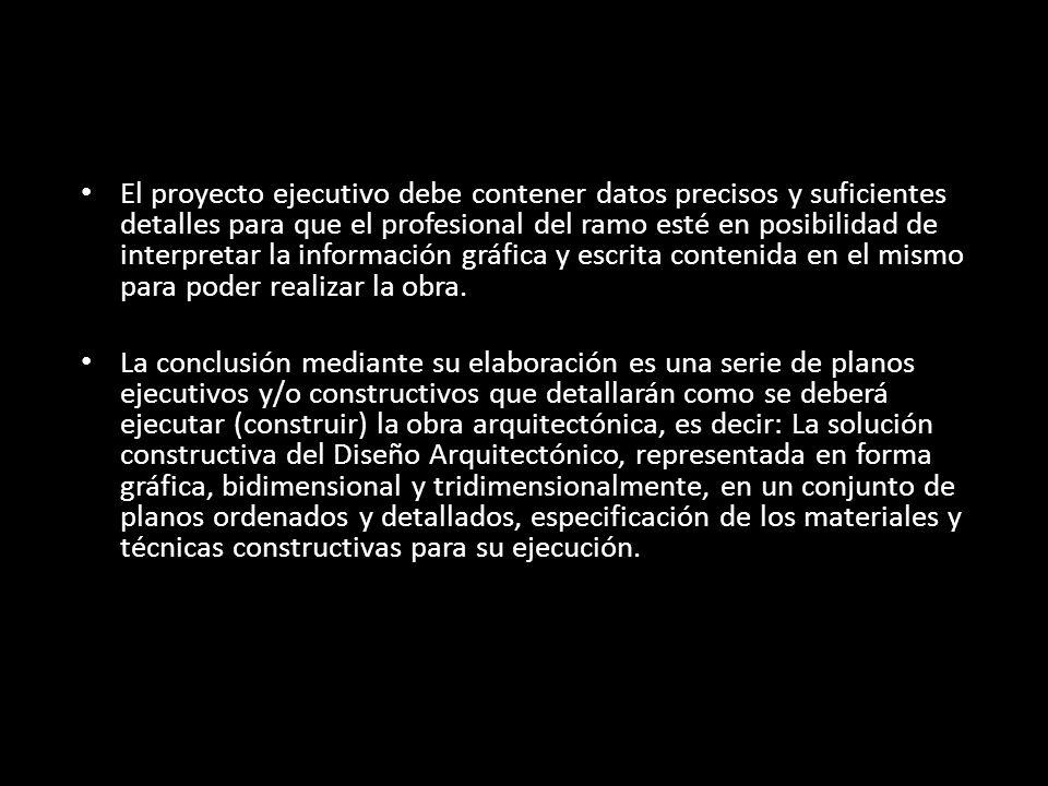 Proyecto ejecutivo definici n ppt descargar for Obra arquitectonica definicion