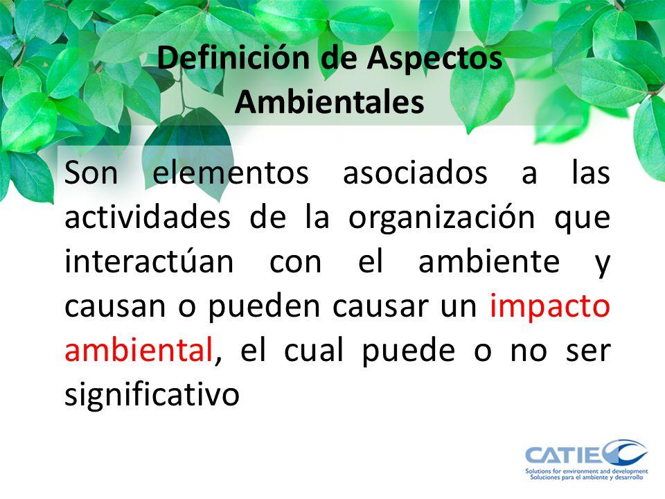 Definición de Aspectos Ambientales