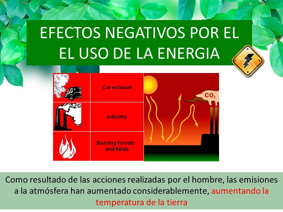 EFECTOS NEGATIVOS POR EL EL USO DE LA ENERGIA