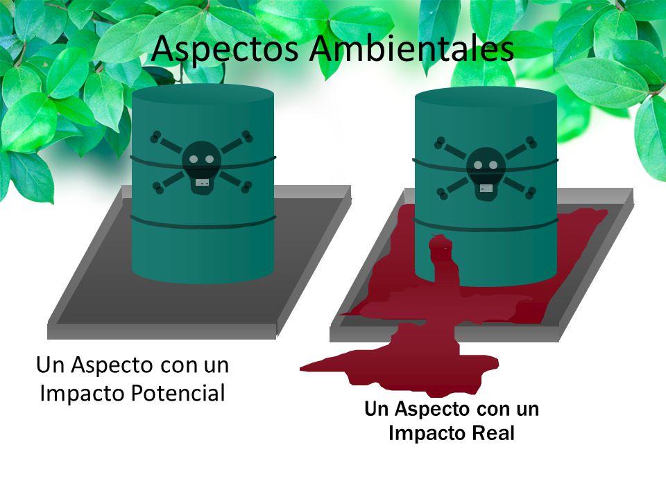 Aspectos Ambientales Un Aspecto con un Impacto Potencial