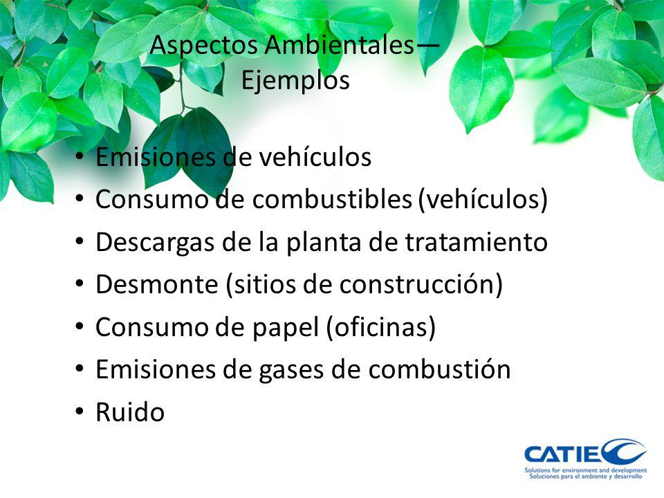 Aspectos Ambientales—Ejemplos
