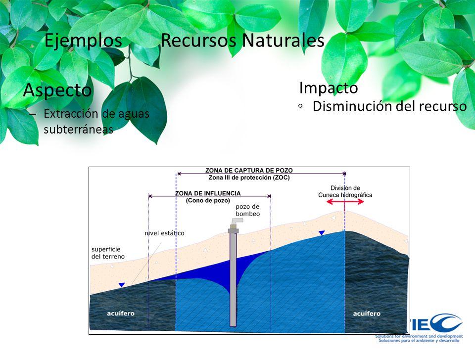 Ejemplos Recursos Naturales