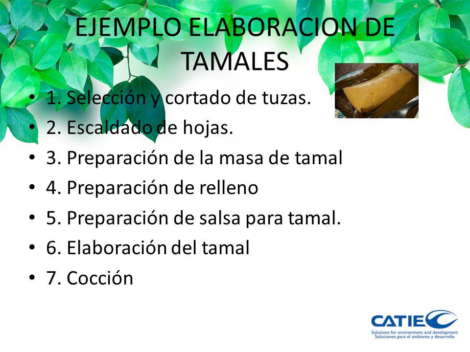 EJEMPLO ELABORACION DE TAMALES