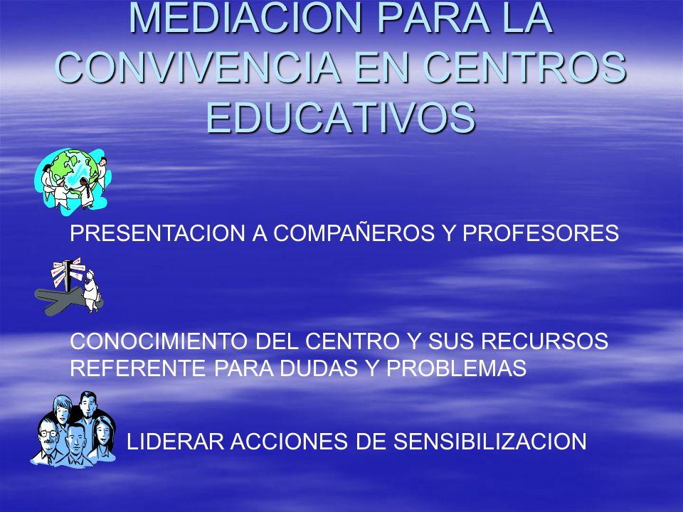 MEDIACION PARA LA CONVIVENCIA EN CENTROS EDUCATIVOS