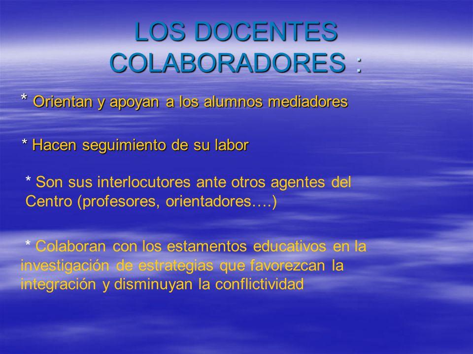 LOS DOCENTES COLABORADORES :